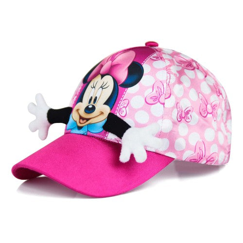 Front - Minnie Mouse Childrens/Girls Hug Baseball Cap