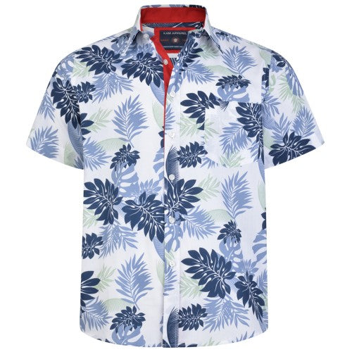 Front - Kam Jeanswear Mens Floral Shirt