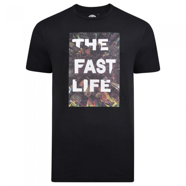 Front - Kam Jeanswear Mens Tall Fit Fast Life Tee