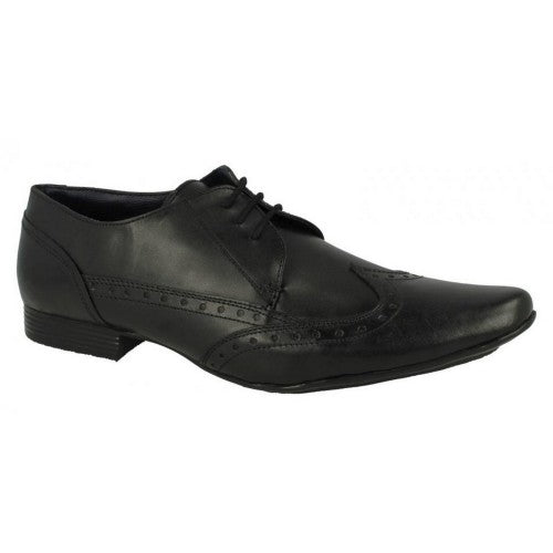 Front - Mens Lambretta Formal Lace Up Brogue Shoes Bradley