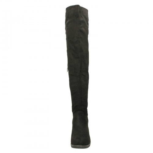 Front - Spot On Womens/Ladies Flat Knee High Boots