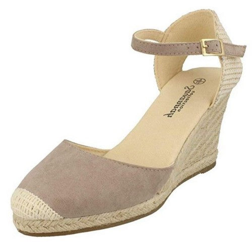Front - Savannah Womens/Ladies High Wedge Espadrilles