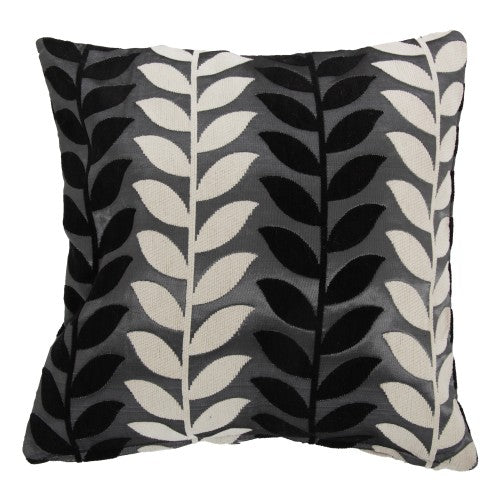 Front - Panama Leaf Patterned Cushion Cover In 5 Colours (Cushion Pad Not Included)