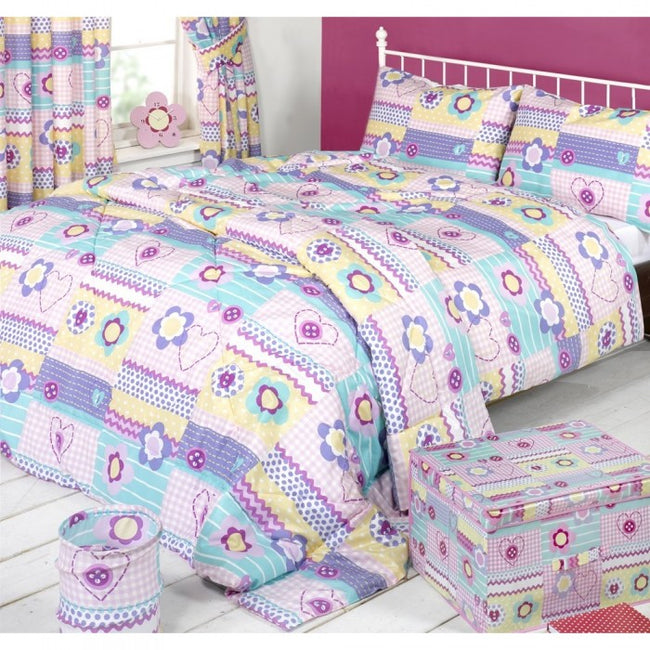 Front - Mucky Fingers Childrens Patchwork Duvet Cover Bedding Set