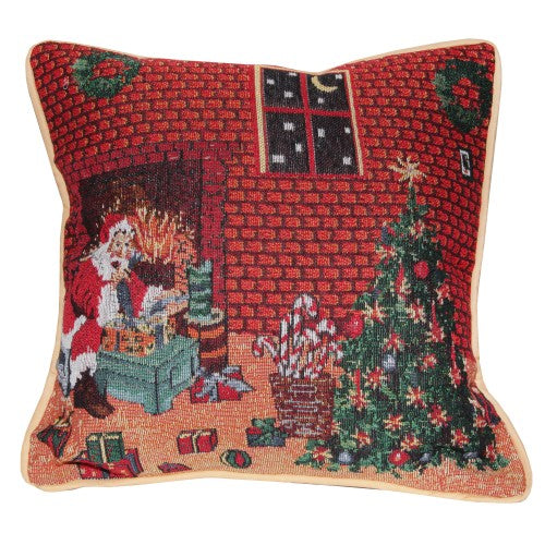 Front - Christmas Design Cushion Cover (Four Designs) (Cushion Pad Not Included)