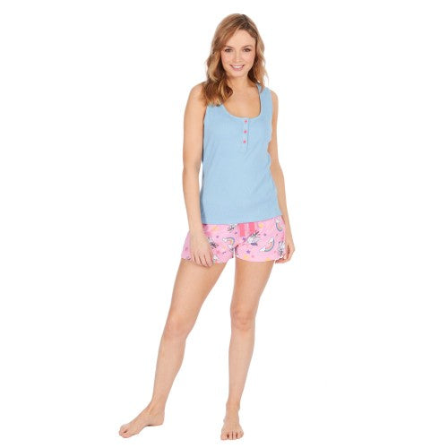 Front - Forever Dreaming Womens/Ladies Frenchicorn Short Pyjamas
