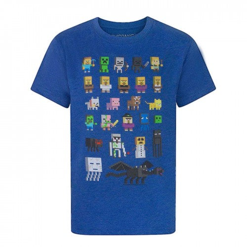 Front - Minecraft Official Boys Sprites Characters T-Shirt
