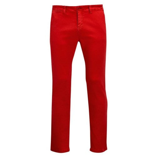Front - SOLS Mens Jules Chino Trousers