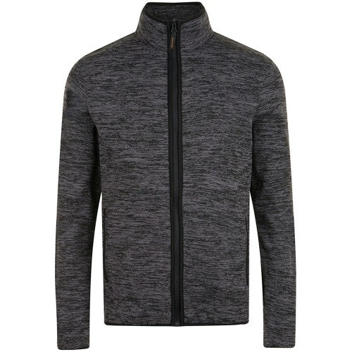Front - SOLS Mens Turbo Pro Knitted Fleece Jacket