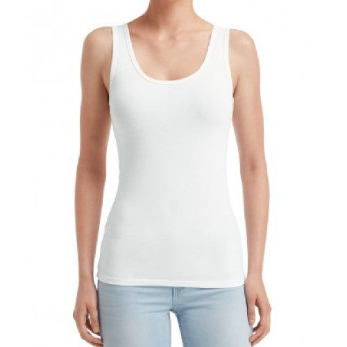 Front - Anvil Womens/Ladies Stretch Sleeveless Tank Top
