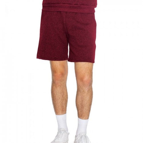 Peppered Cranberry - Front - American Apparel Unisex Salt & Pepper Gym Shorts