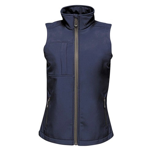 Front - Regatta Womesn/Ladies Octagon II Printable Soft Shell Bodywarmer