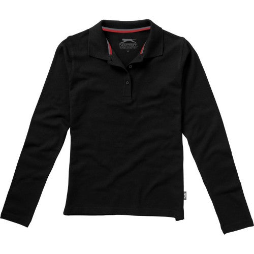 Front - Slazenger Womens/Ladies Point Long Sleeve Polo Shirt