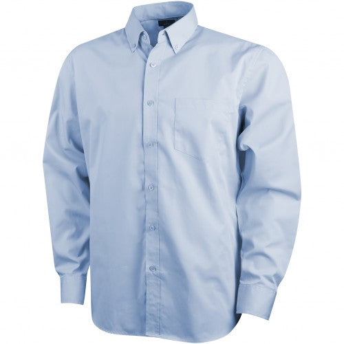 Front - Elevate Mens Wilshire Long Sleeve Shirt