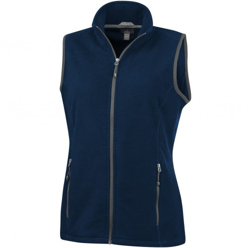 Front - Elevate Womens/Ladies Tyndall Micro Fleece Bodywarmer