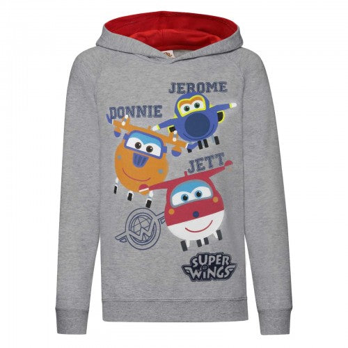 Front - Super Wings Toddler Boys Jerome Donnie And Jett Character Hoodie