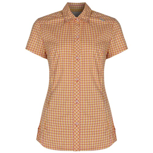 Front - Regatta Great Outdoors Womens/Ladies Honshu Grid Check Short Sleeve Shirt