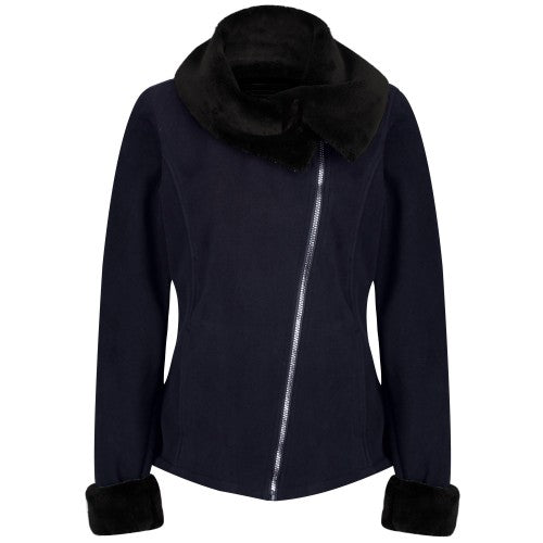 Front - Regatta Womens/Ladies Balencia Faux Fur Collar Fleece Jacket