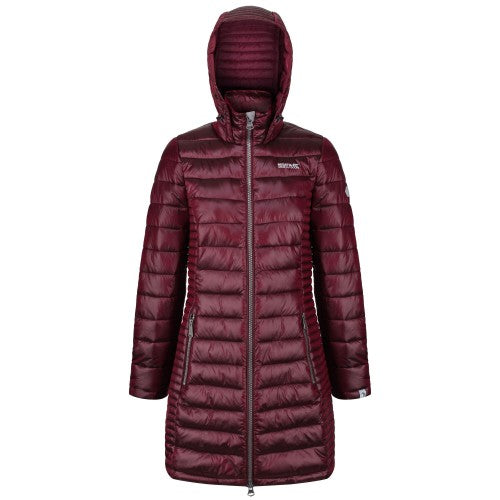 Front - Regatta Womens/Ladies Andel Hooded Baffle Jacket