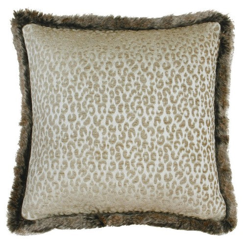 Front - Riva Home Botswana Leopard Print Cushion Cover