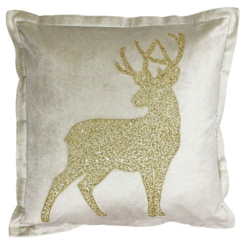 Front - Riva Paoletti Wonderland Prancer Christmas Cushion Cover
