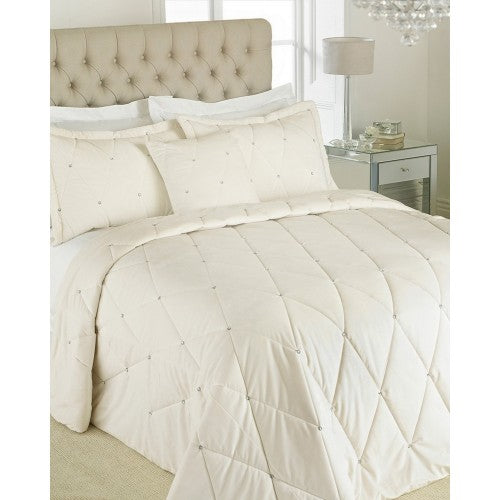 Front - Riva Paoletti New Diamante Bedspread Set