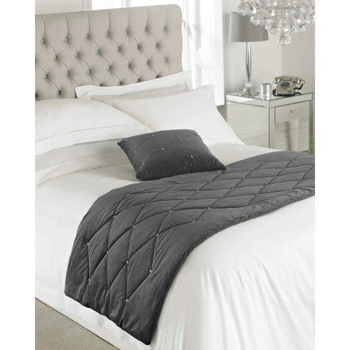 Front - Riva Paoletti New Diamante Bed Runner
