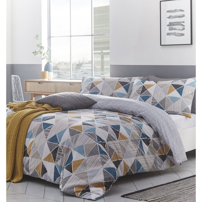 Front - Creative Cloth Harlequin Duvet Cover Set