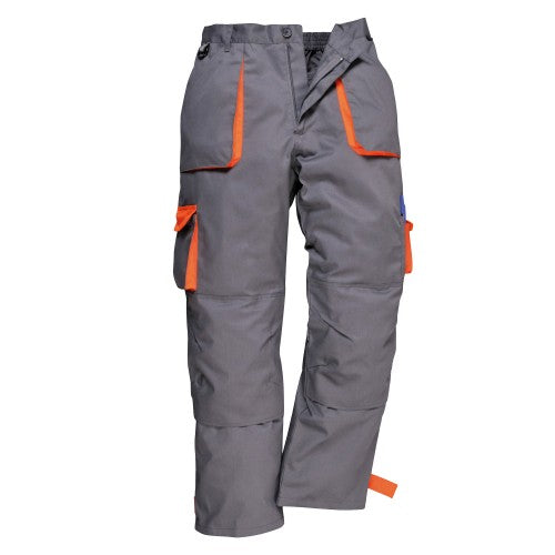 Front - Portwest Mens Contrast Workwear Trousers (TX11) / Pants