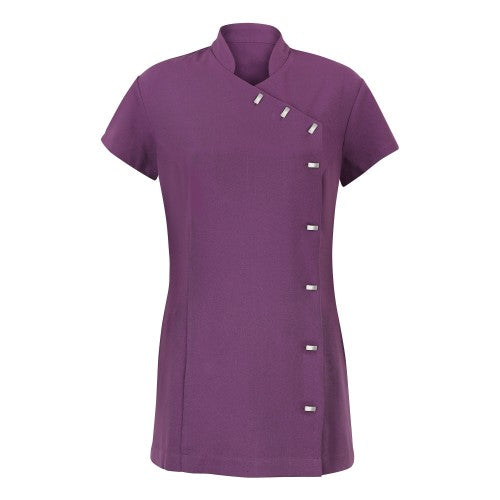 Front - Alexandra Womens Easycare Wrap Beauty Tunic / Health Beauty & Spa / Workwear