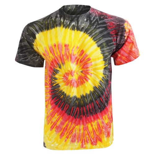 Front - Colortone Womens/Ladies Rainbow Tie-Dye Short Sleeve Heavyweight T-Shirt
