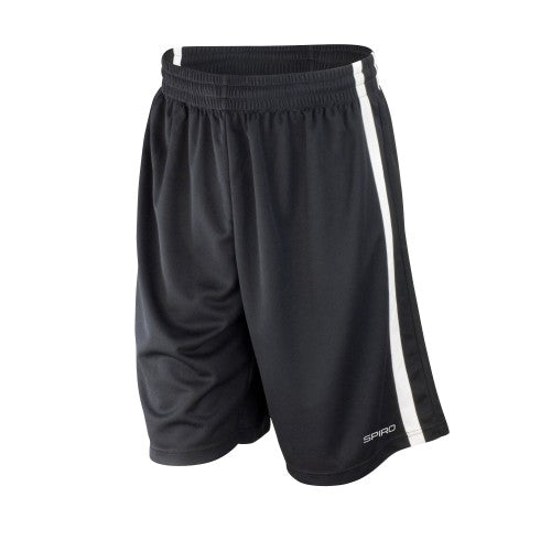 Front - Spiro Mens Quick Dry Basketball Shorts