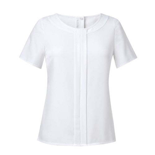Front - Brook Taverner Womens/Ladies Felina Crepe De Chine Short Sleeve Blouse