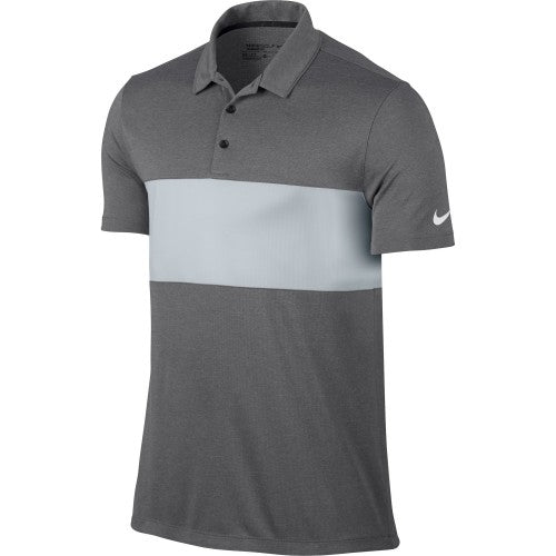 Front - Nike Mens Breathe Colour Block Short Sleeve Polo Shirt