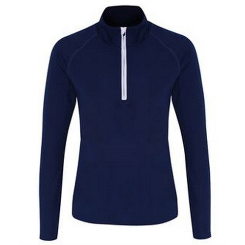 Front - TriDri Womens/Ladies Long Sleeve Performance Quarter Zip Top