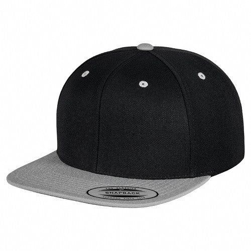 Front - Yupoong Mens The Classic Premium Snapback 2-Tone Cap (Pack of 2)