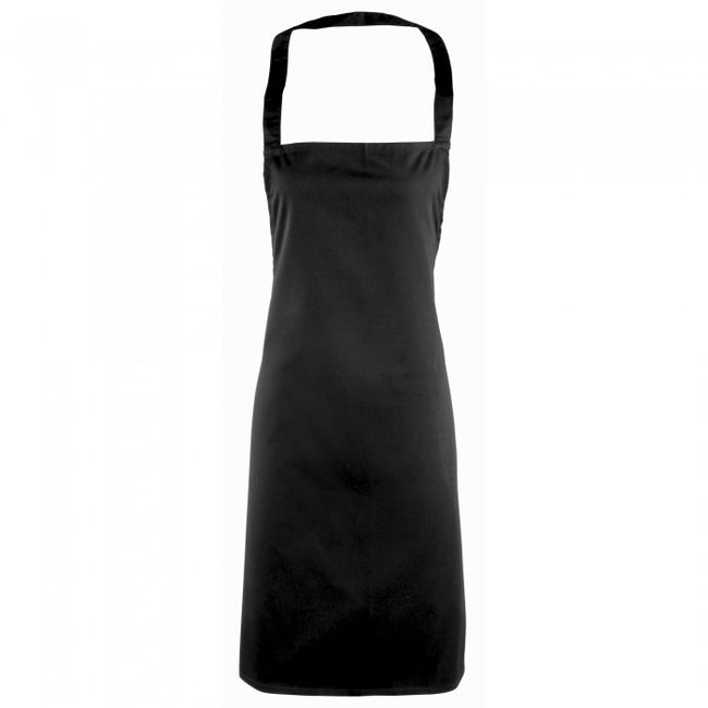 Front - Premier Ladies/Womens Essential Bib Apron / Catering Workwear (Pack of 2)