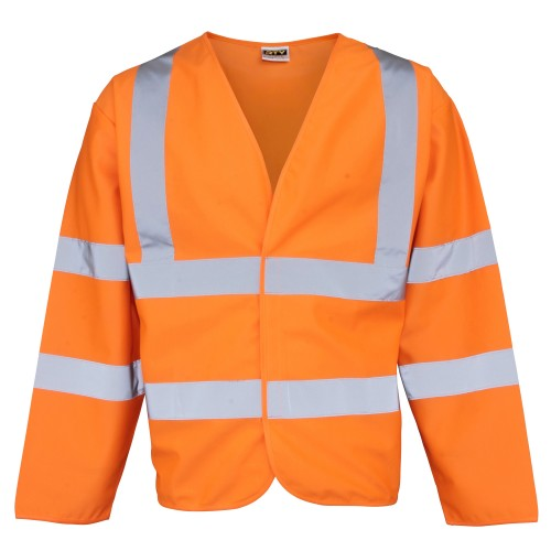 Front - RTY High Visibility Unisex High Vis Motorway Coat (Pack of 2)