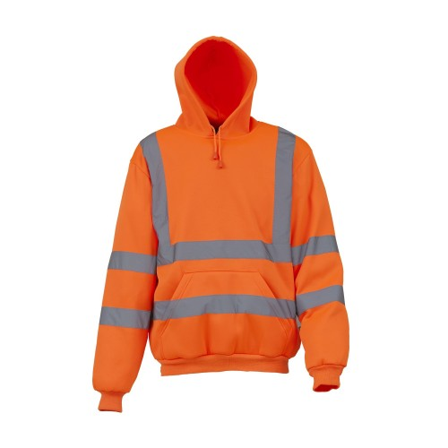 Front - Yoko Mens High Visibility Pull-Over Hoodie (Pack of 2)