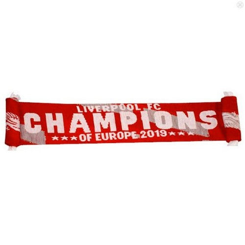 Front - Liverpool FC Champions Of Europe 2019 Scarf
