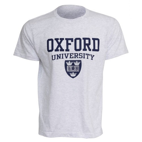 Front - Mens Oxford University Print Short Sleeve Casual T-Shirt/Top