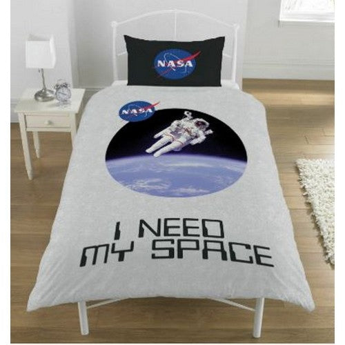 Front - NASA I Need My Space Single Duvet Set
