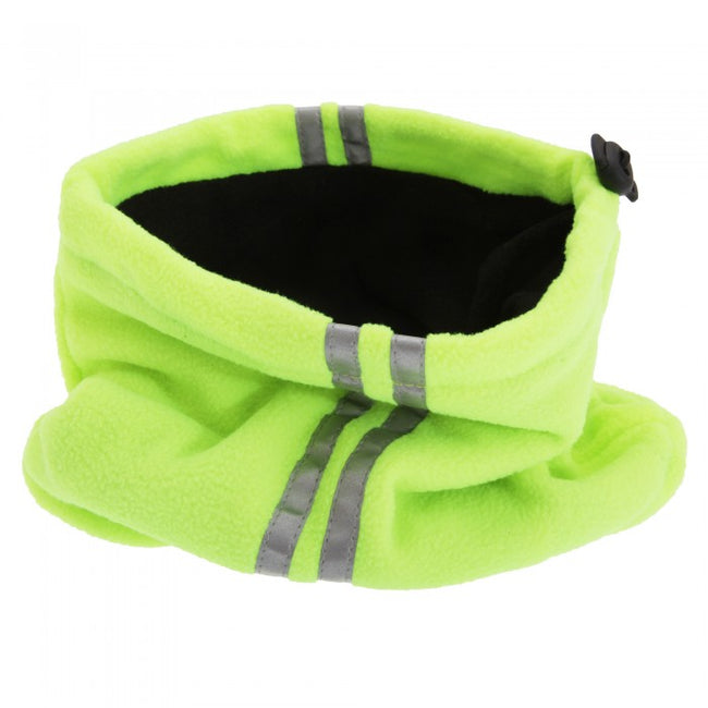 Front - Unisex Hi Vis Fleece Neckwarmer Snood With 3M Scotchlite Banding