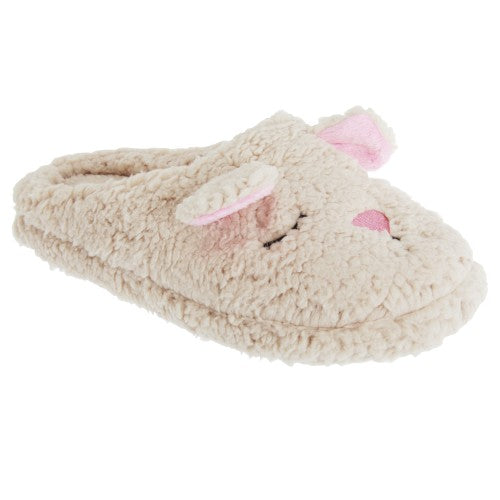 Front - Slumberzzz Womens/Ladies Sleepy Mouse Design Slip-On Slippers