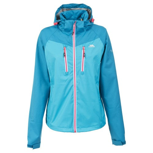 Front - Trespass Womens/Ladies Farrah Waterproof Jacket