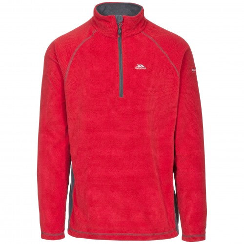 Front - Trespass Mens Donald II Half Zip Fleece Top
