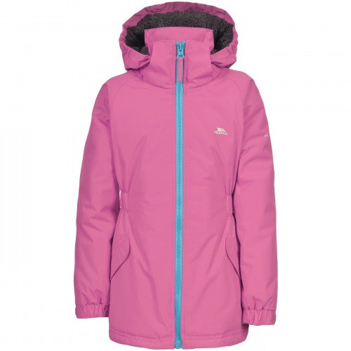 Front - Trespass Childrens Girls Wonder Waterproof Jacket