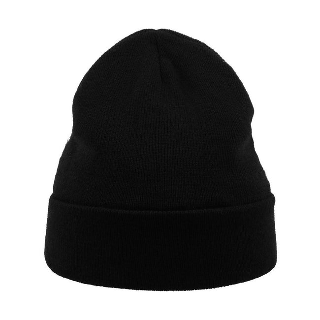 Black - Front - Atlantis Pier Thinsulate Thermal Lined Double Skin Beanie