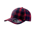 Red-Navy - Front - Atlantis Scotland Tartan 6 Panel Cap
