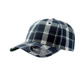 Navy-Natural - Front - Atlantis Scotland Tartan 6 Panel Cap